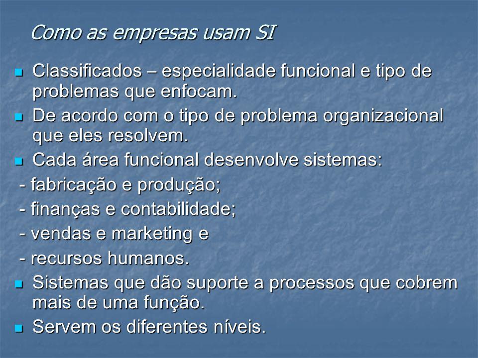 Como as empresas usam SI