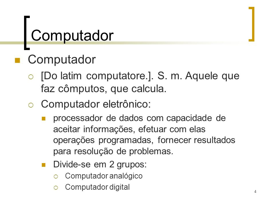 Computador Computador