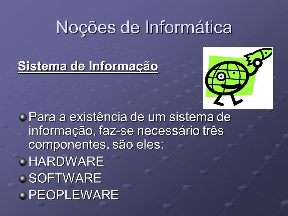 Noções de Informática Sistema de Informação