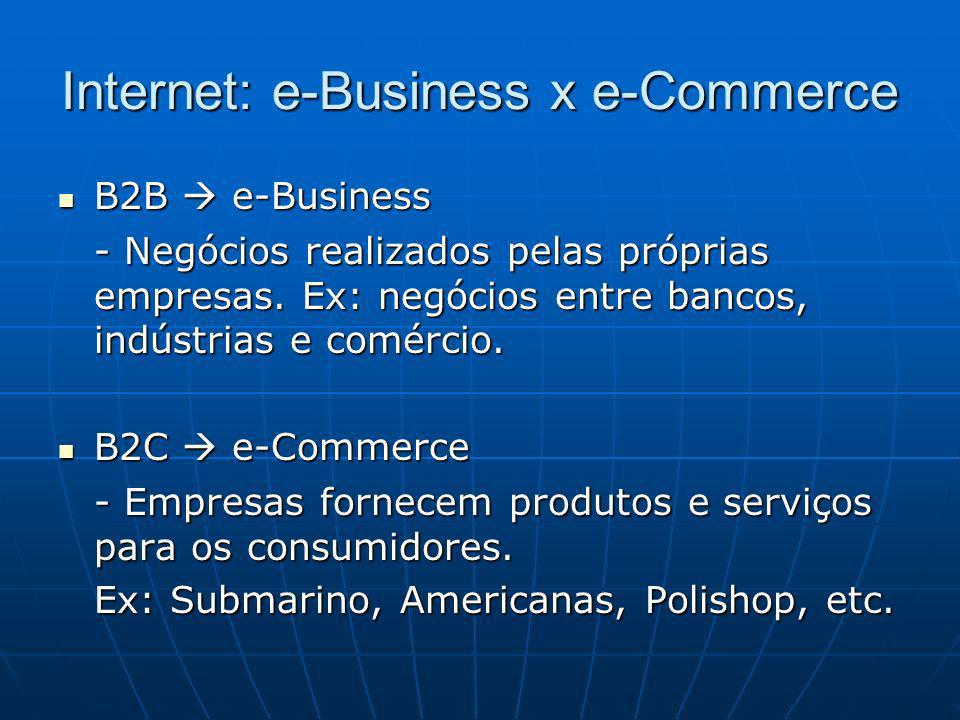 Internet: e-Business x e-Commerce