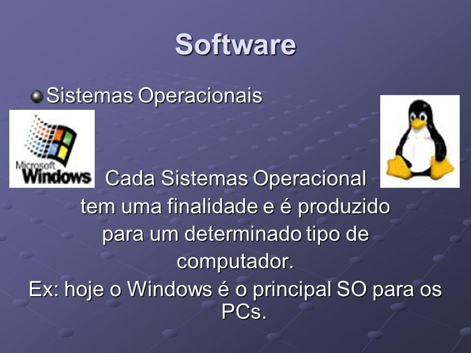 Software Sistemas Operacionais Cada Sistemas Operacional