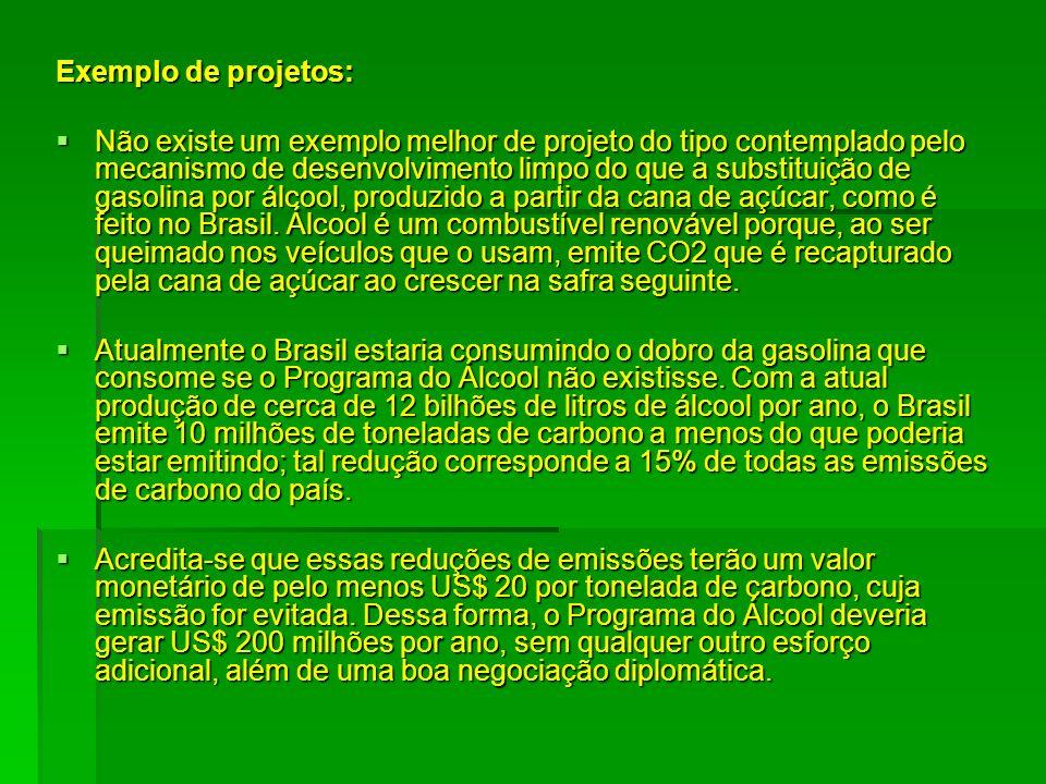 Exemplo de projetos: