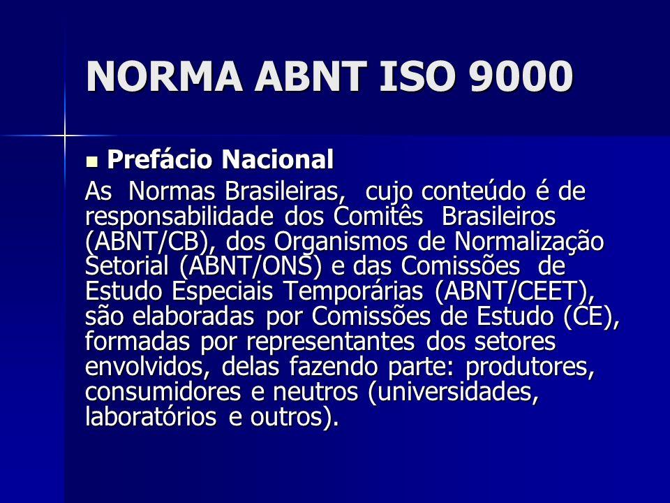 NORMA ABNT ISO 9000 Prefácio Nacional