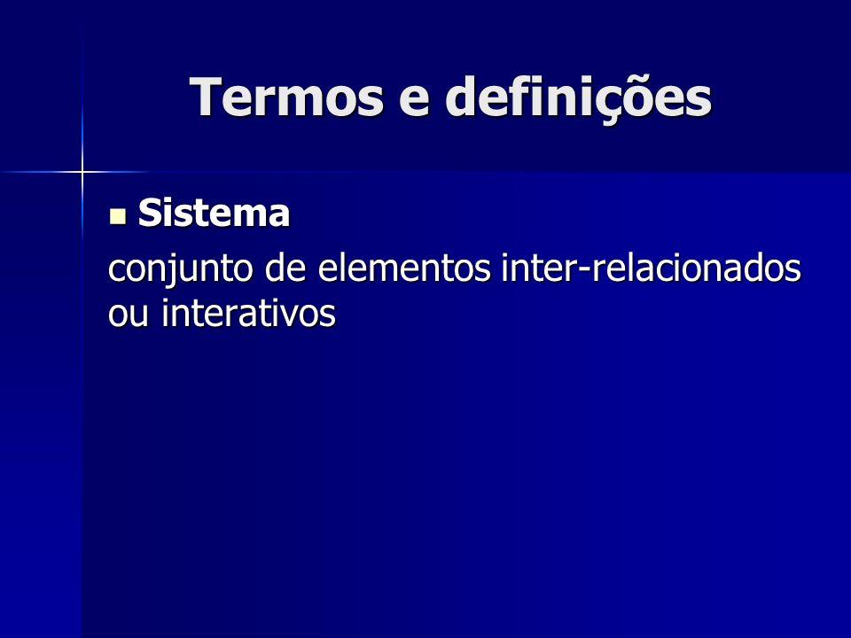 Termos e definições Sistema
