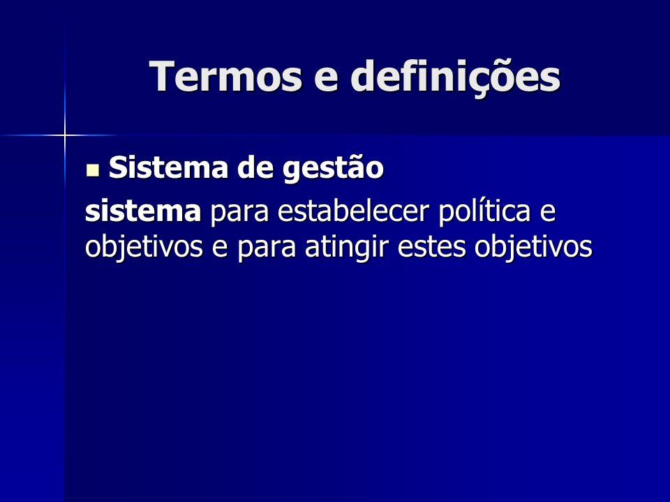 Termos e definições Sistema de gestão