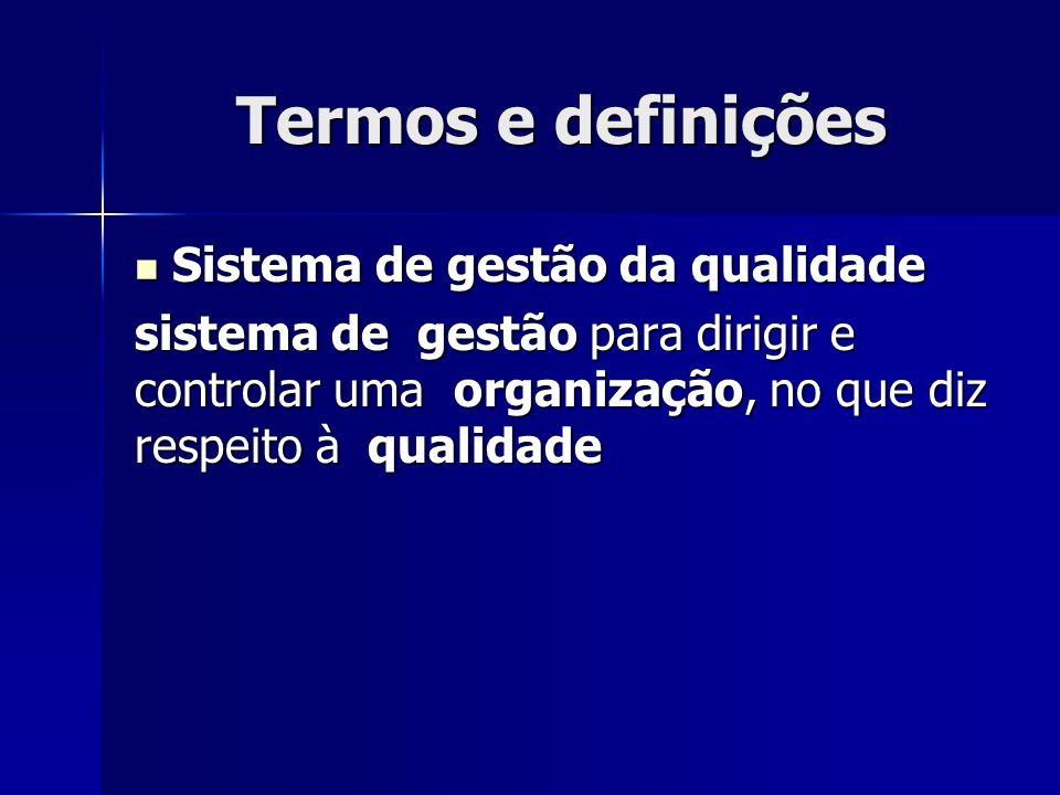Termos e definições Sistema de gestão da qualidade