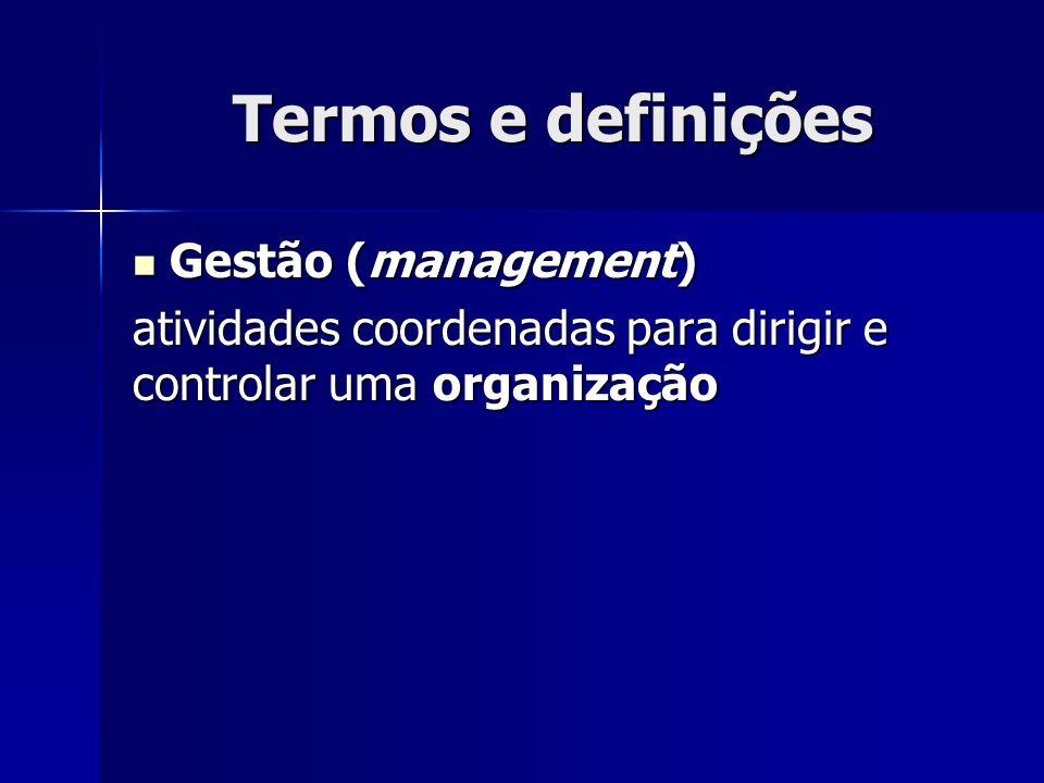 Termos e definições Gestão (management)