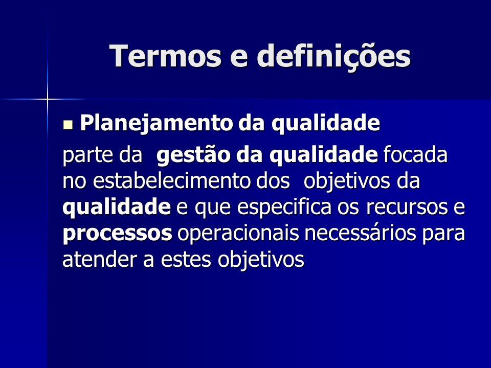 Termos e definições Planejamento da qualidade