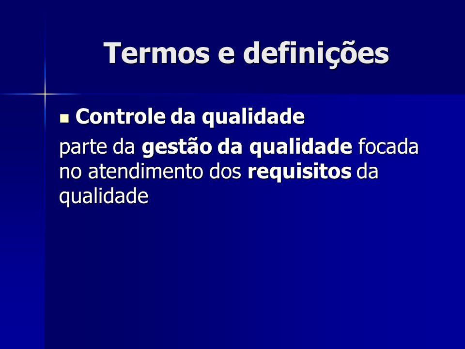 Termos e definições Controle da qualidade