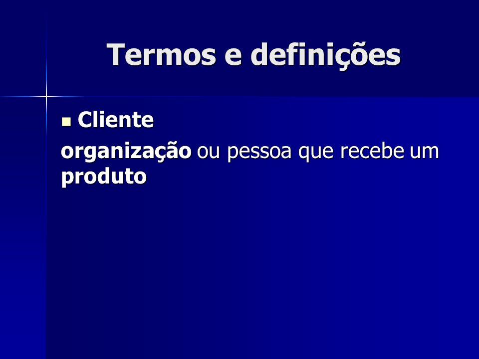 Termos e definições Cliente