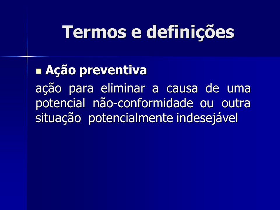 Termos e definições Ação preventiva