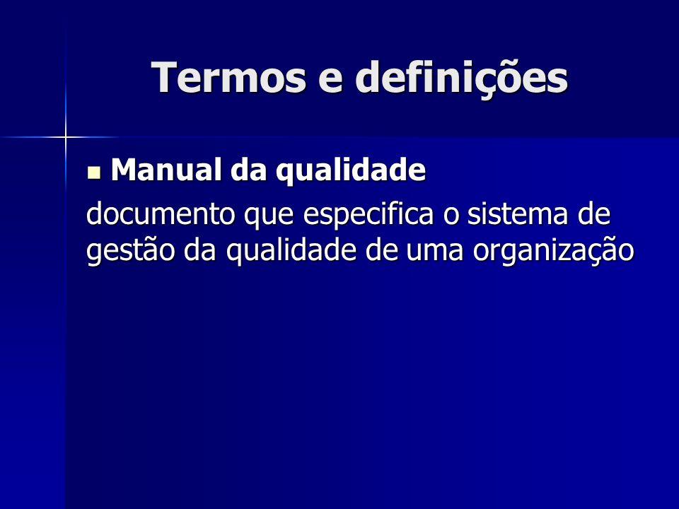 Termos e definições Manual da qualidade