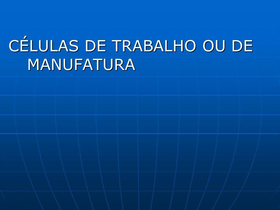 CÉLULAS DE TRABALHO OU DE MANUFATURA