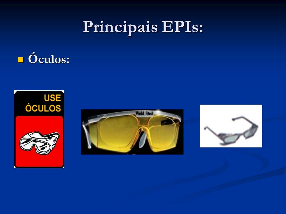 Principais EPIs: Óculos:
