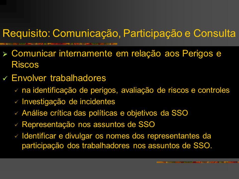 Requisito: Comunicação, Participação e Consulta