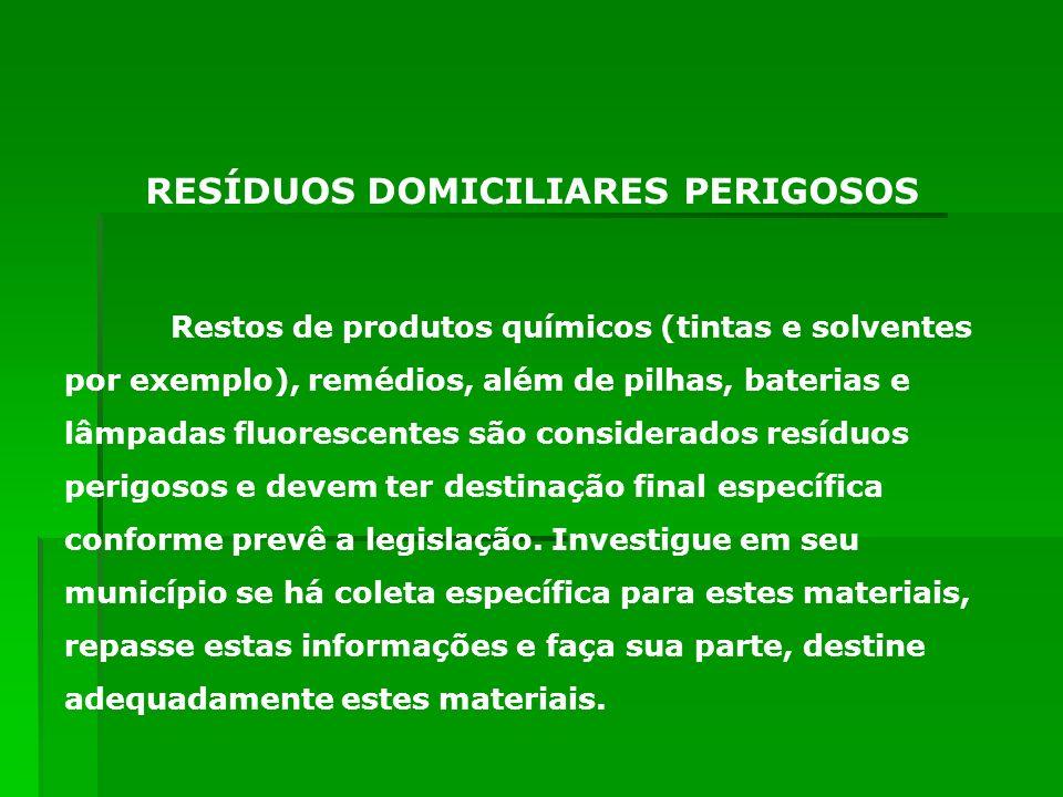 RESÍDUOS DOMICILIARES PERIGOSOS