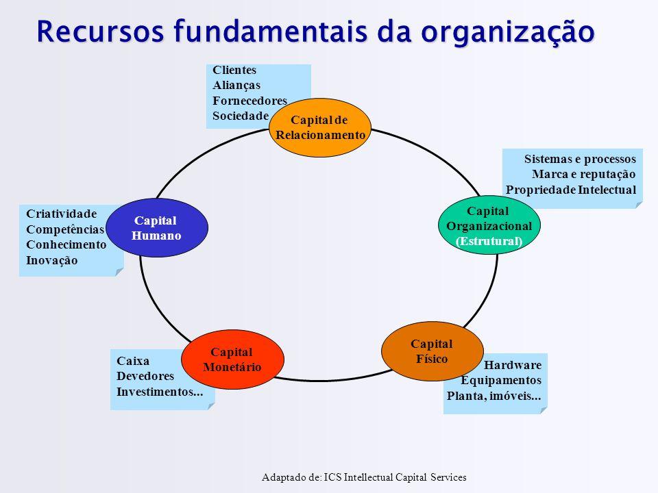 Recursos fundamentais da organização