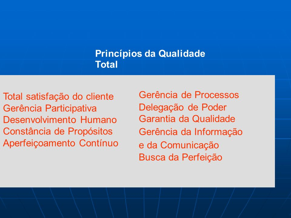 Princípios da Qualidade