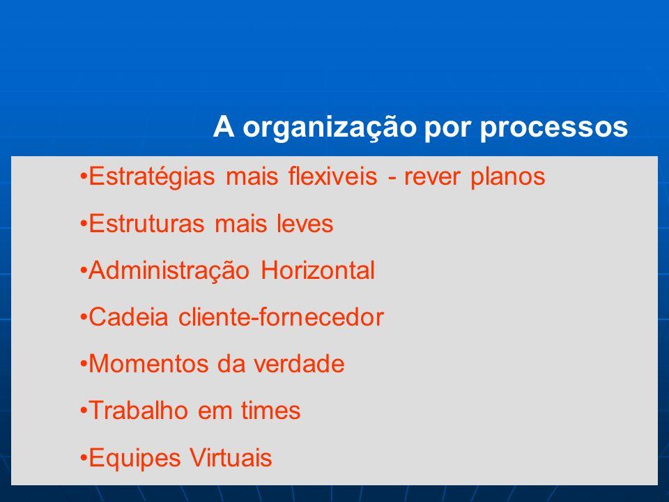 A organização por processos