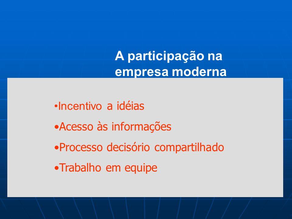 A participação na empresa moderna Incentivo a idéias