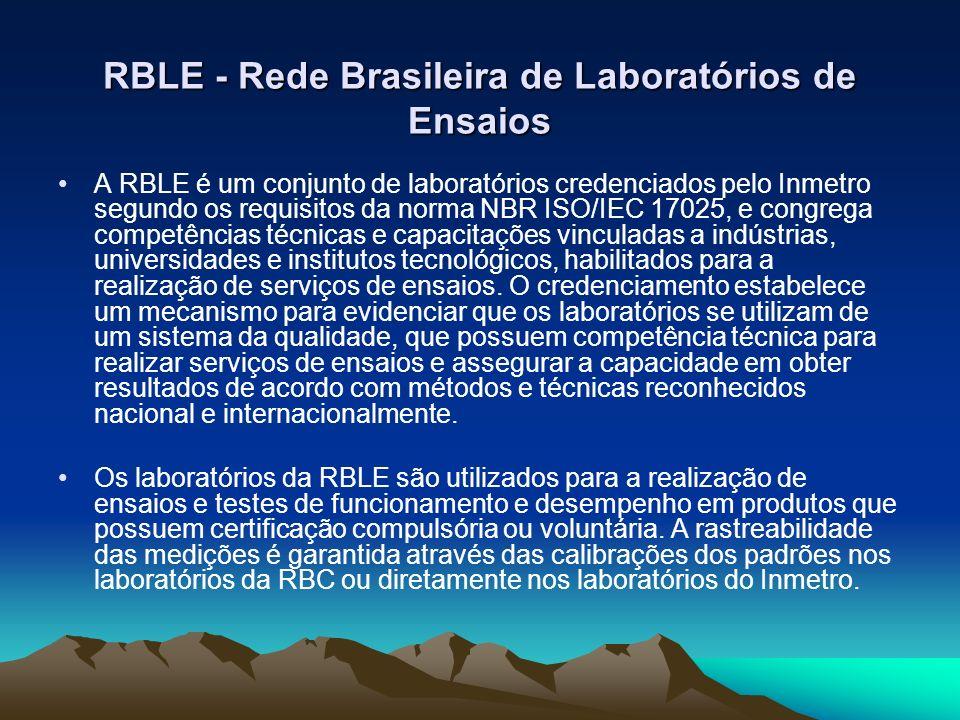 RBLE - Rede Brasileira de Laboratórios de Ensaios