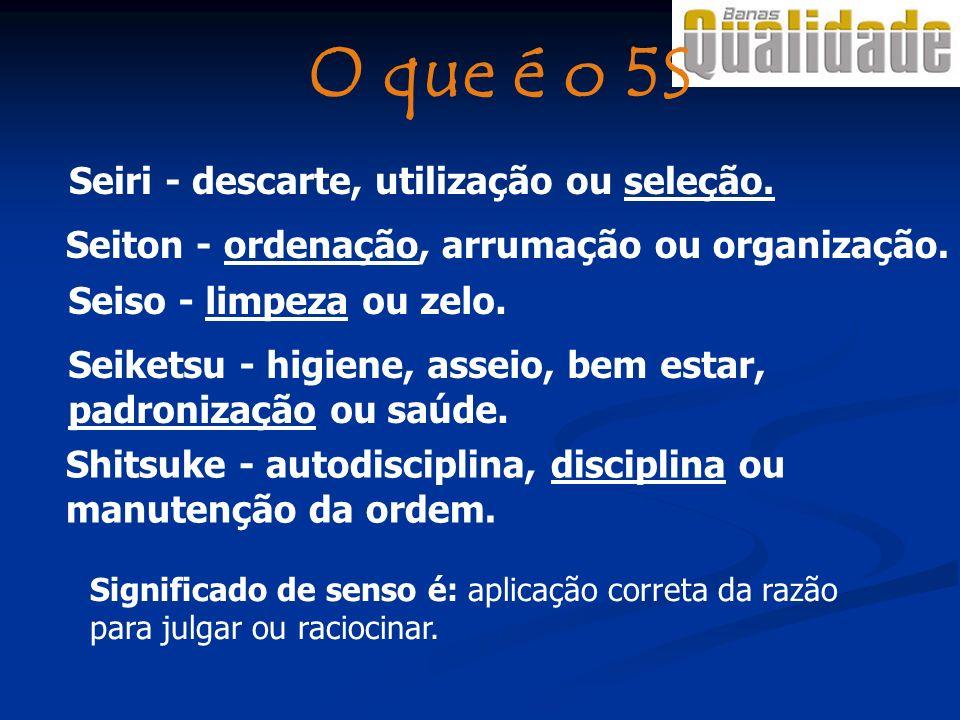 O que é o 5S Seiri - descarte, utilização ou seleção.