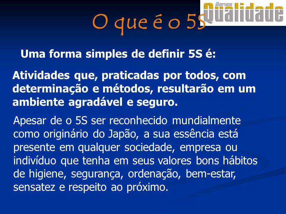 O que é o 5S Uma forma simples de definir 5S é: