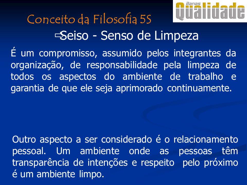 Conceito da Filosofia 5S Seiso - Senso de Limpeza