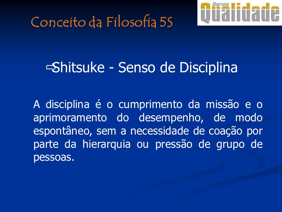 Conceito da Filosofia 5S