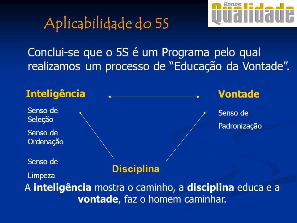 Aplicabilidade do 5S Conclui-se que o 5S é um Programa pelo qual