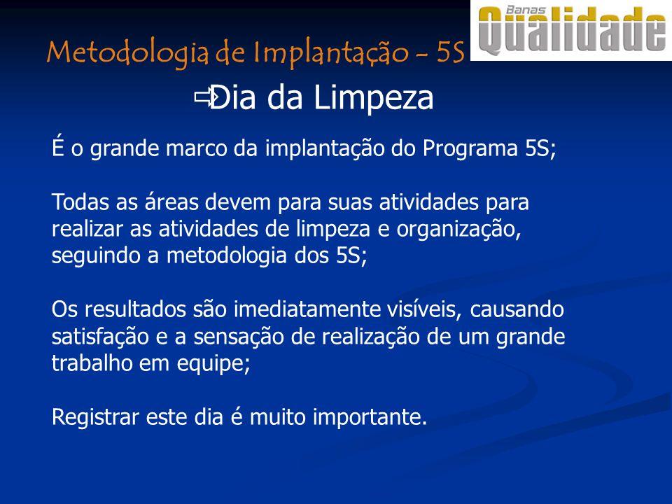 Dia da Limpeza Metodologia de Implantação - 5S
