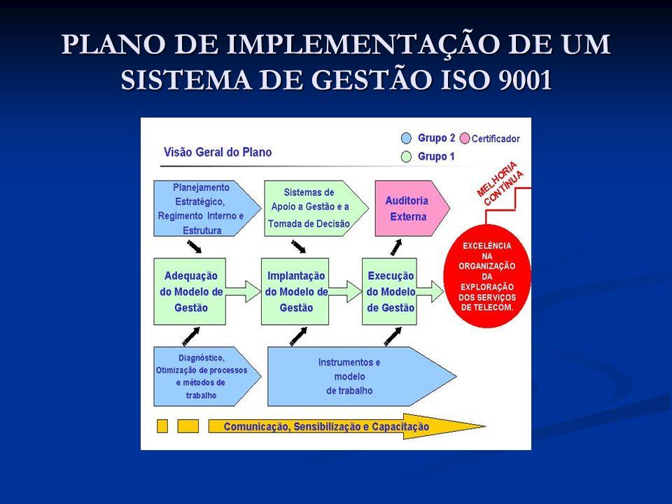 PLANO DE IMPLEMENTAÇÃO DE UM SISTEMA DE GESTÃO ISO 9001