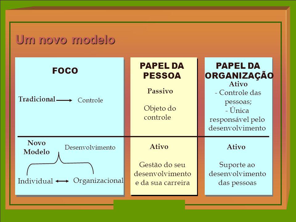 Um novo modelo PAPEL DA PESSOA PAPEL DA ORGANIZAÇÃO FOCO Ativo Passivo