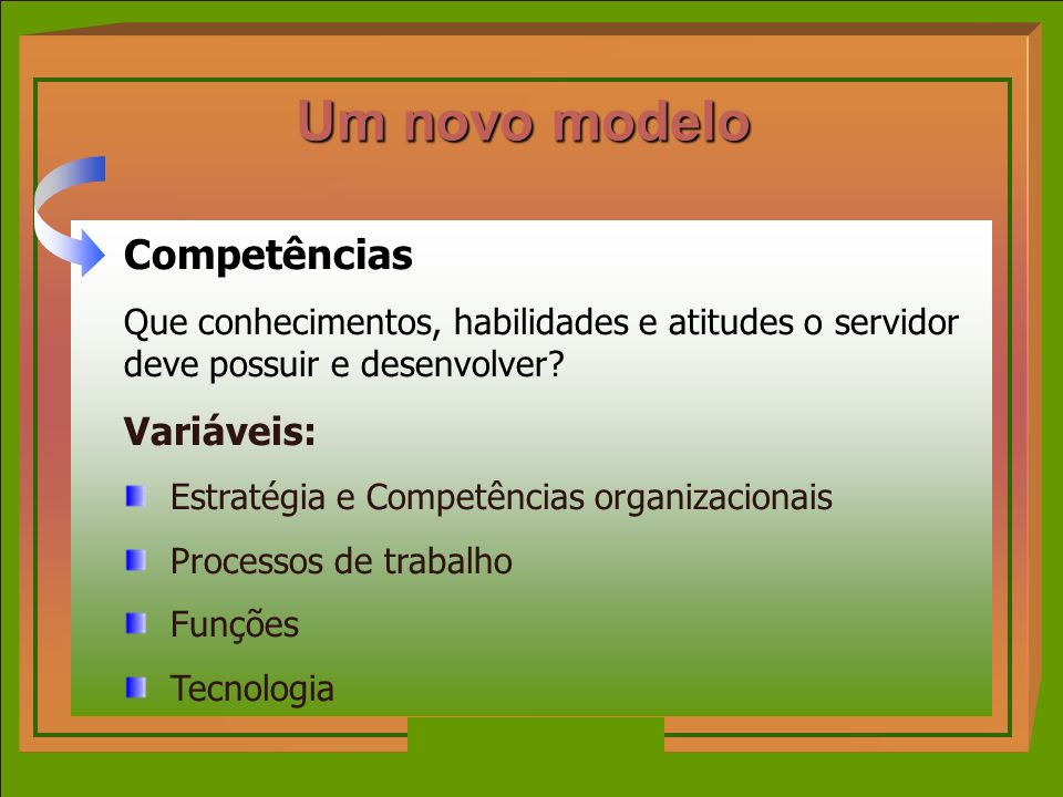 Um novo modelo Competências Variáveis: