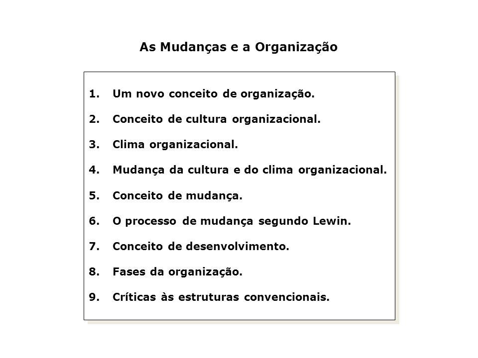 As Mudanças e a Organização