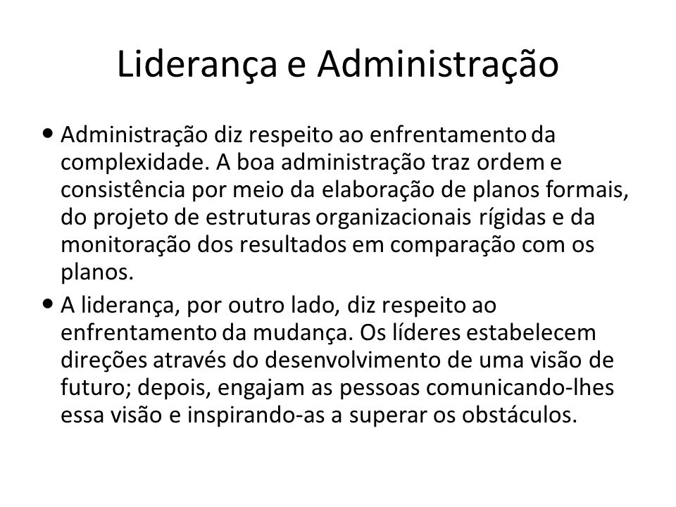 Liderança e Administração