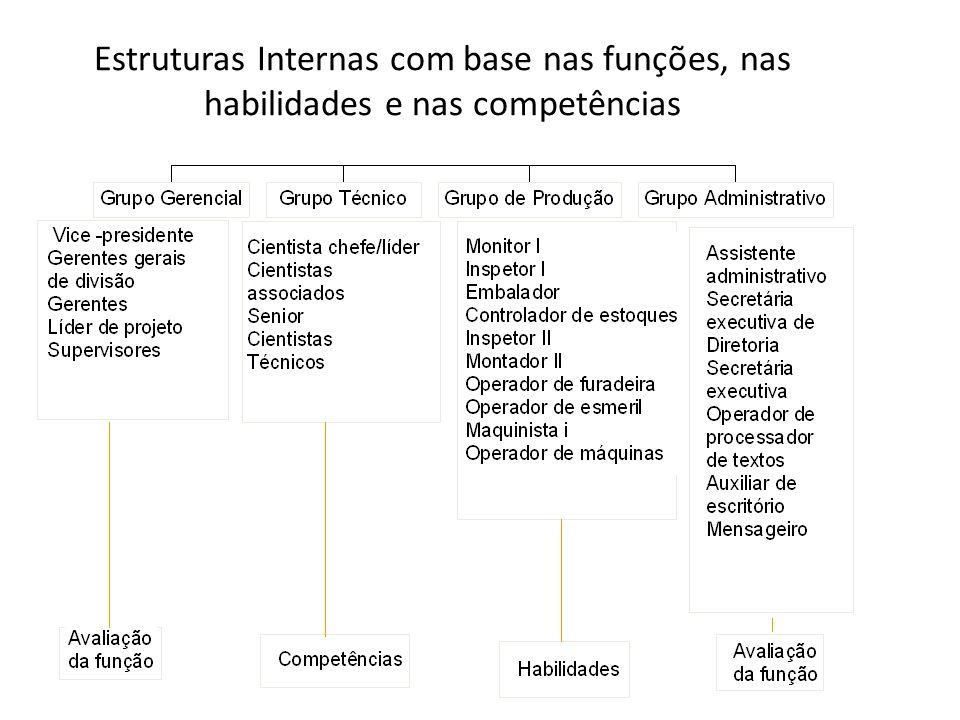 Estruturas Internas com base nas funções, nas habilidades e nas competências