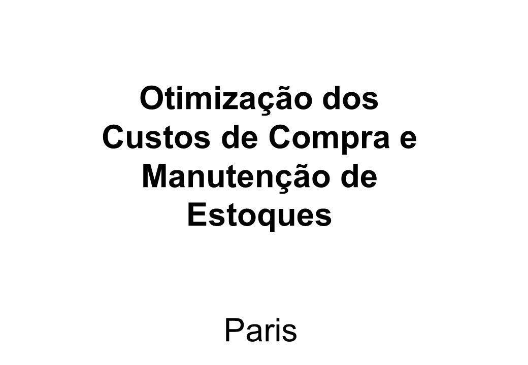 Otimização dos Custos de Compra e Manutenção de Estoques
