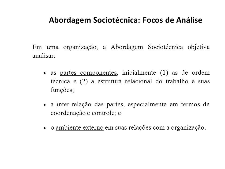 Abordagem Sociotécnica: Focos de Análise