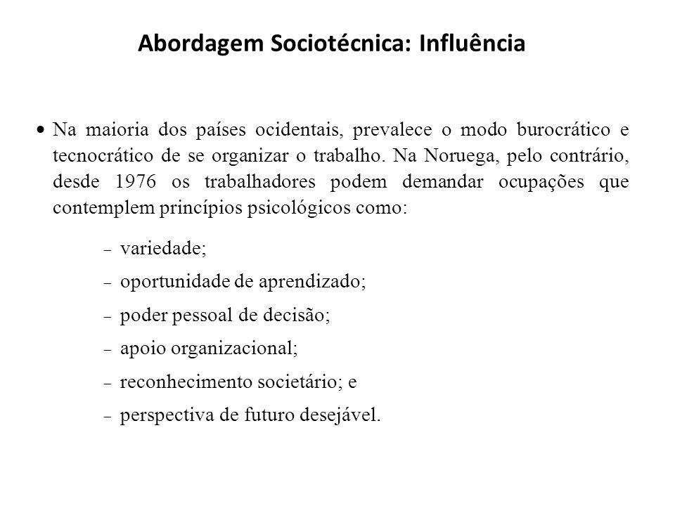 Abordagem Sociotécnica: Influência