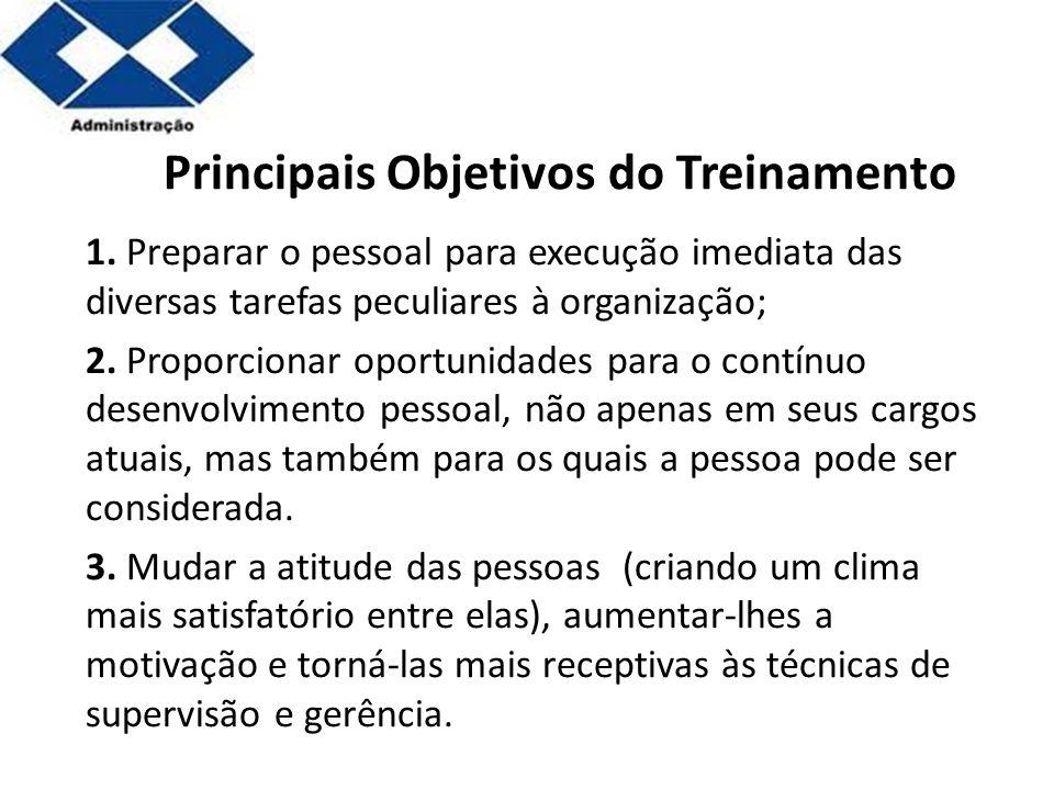 Principais Objetivos do Treinamento
