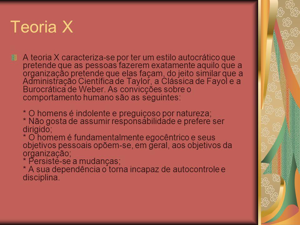 Teoria X