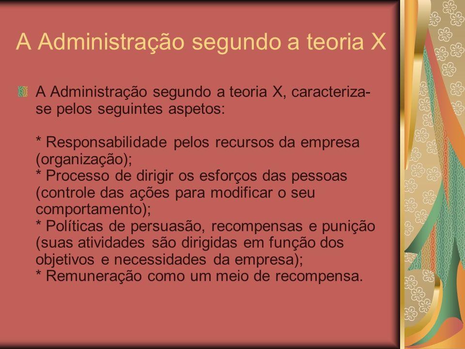 A Administração segundo a teoria X