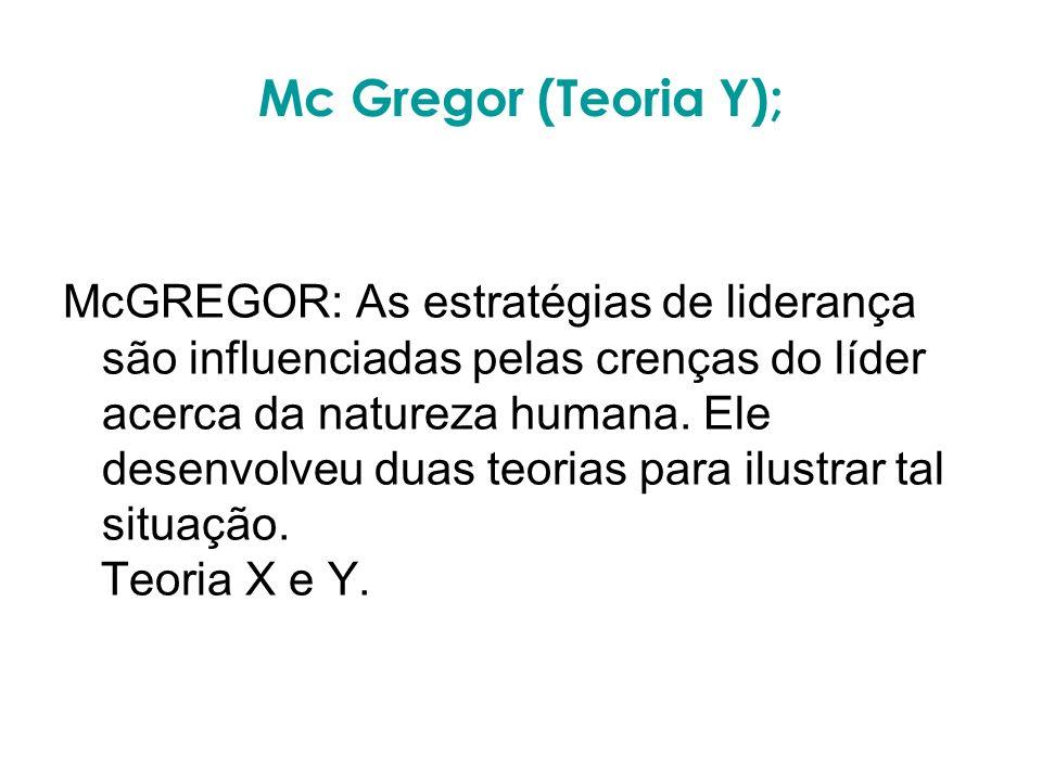 Mc Gregor (Teoria Y);