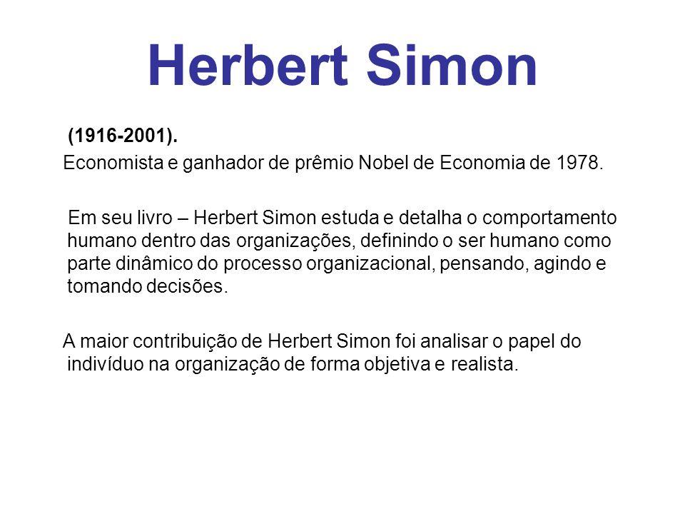Herbert Simon (1916-2001). Economista e ganhador de prêmio Nobel de Economia de 1978.