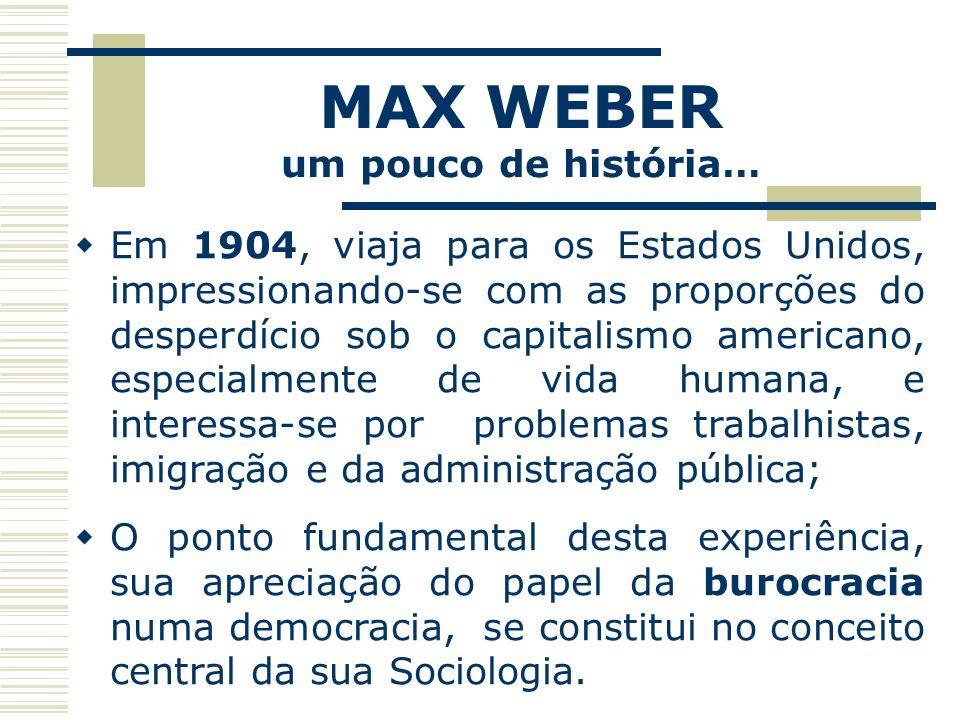 MAX WEBER um pouco de história…