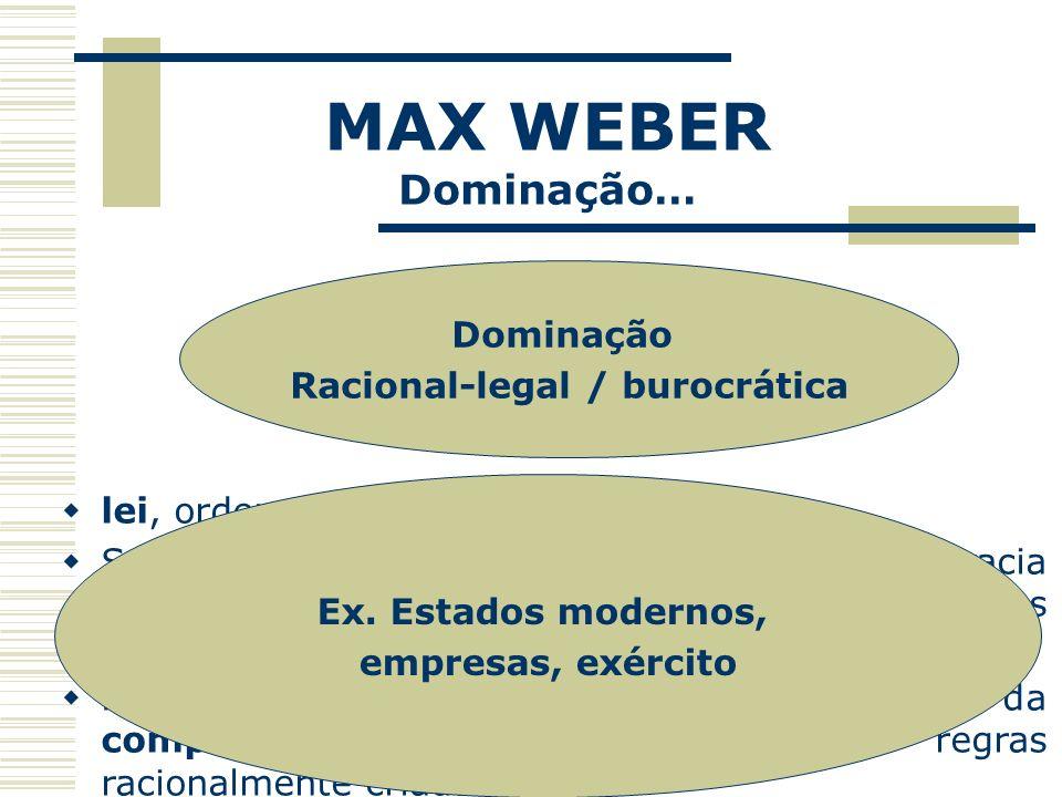 Racional-legal / burocrática