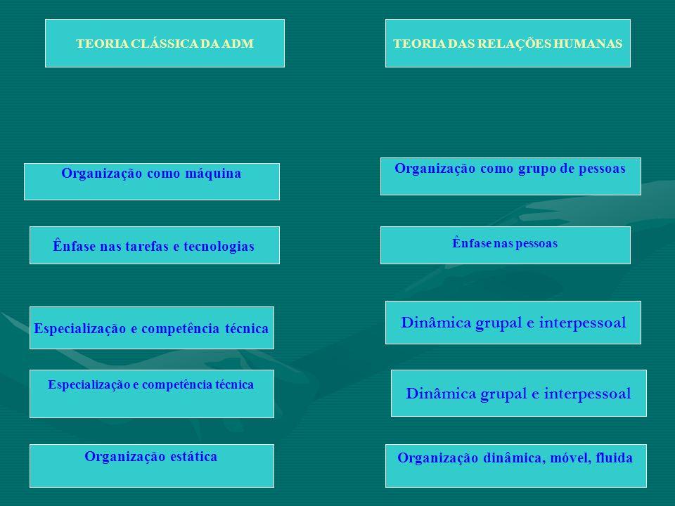 Dinâmica grupal e interpessoal Dinâmica grupal e interpessoal