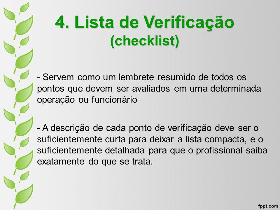 4. Lista de Verificação (checklist)