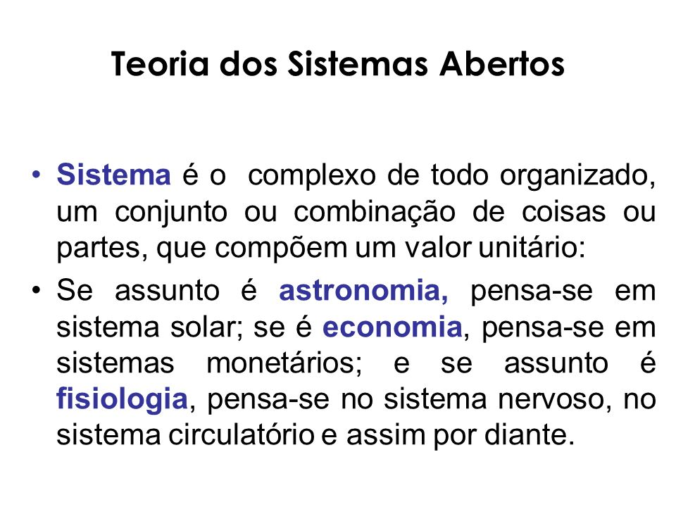 Teoria dos Sistemas Abertos